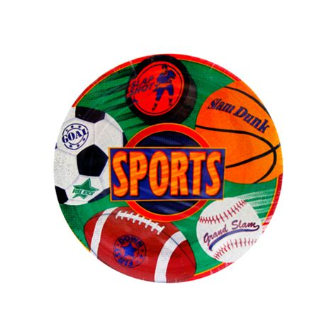 Sports Small Paper Plates (8ct)