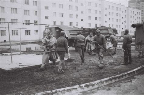 Chernobyl clean up operation in Pripyat following the